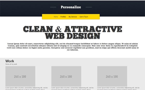 bootstrap portfolio templates free - personalize portfolio selling for