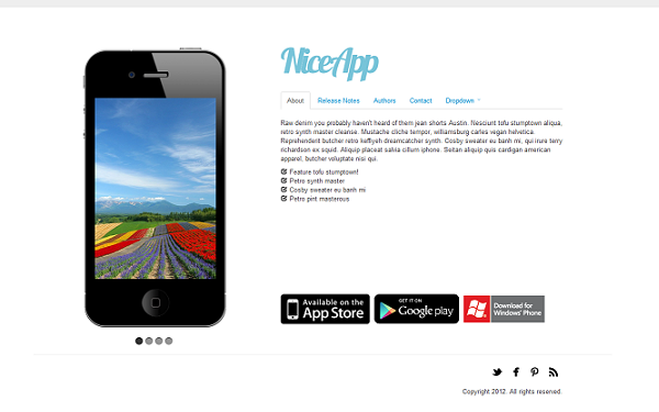 NiceApp – 3 in 1 Theme for Mobile Apps Free Download