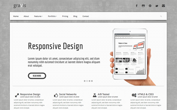 Gravis industrial bootstrap theme selling for 1800 gravis industrial bootstrap theme maxwellsz