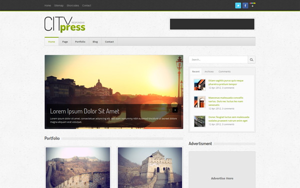 Citypress - Responsive Blog Citypress - Responsive Blog templates