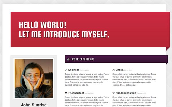 Resumed! – CV / Resume Template Free Download