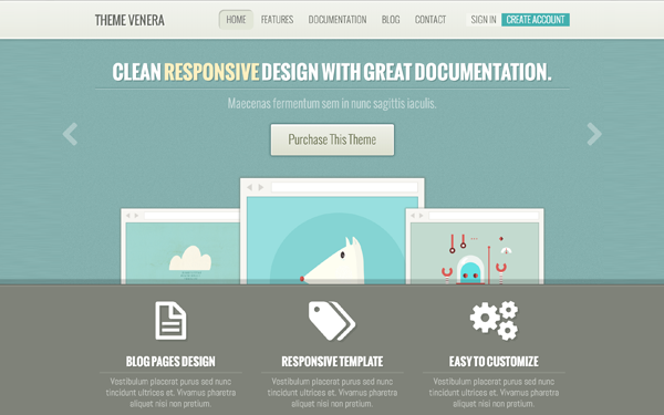 Venera Responsive Multipurpose Template Free Download