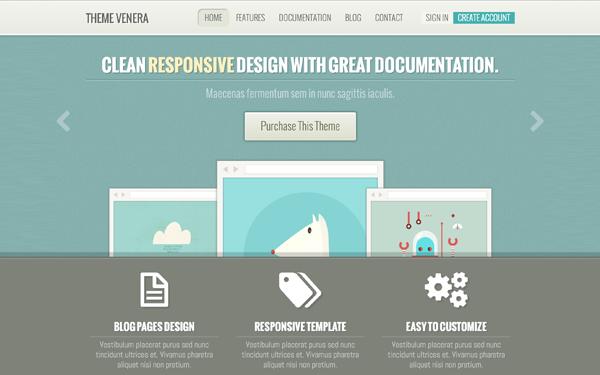 Venera Responsive Multipurpose Template Free Download