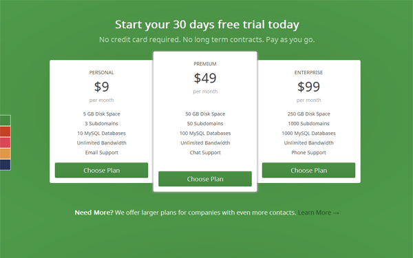 Responsive Pricing Table Free Download