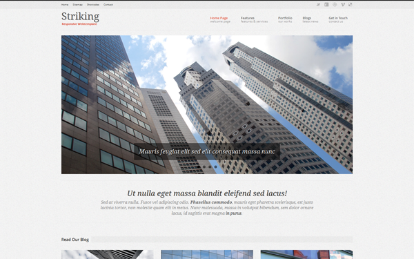 Striking – Responsive Website Template Free Download