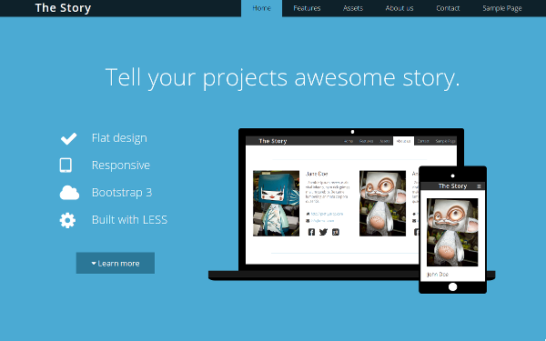 The Story – Flat Business Template Free Download