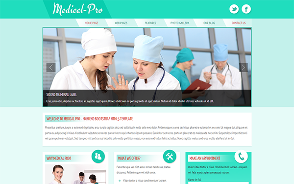 Medical-Pro Responsive Template selling for $10.00
