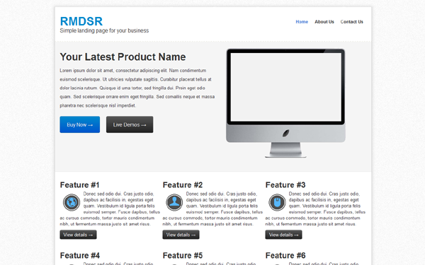 RMDSR Landing Page Free Download