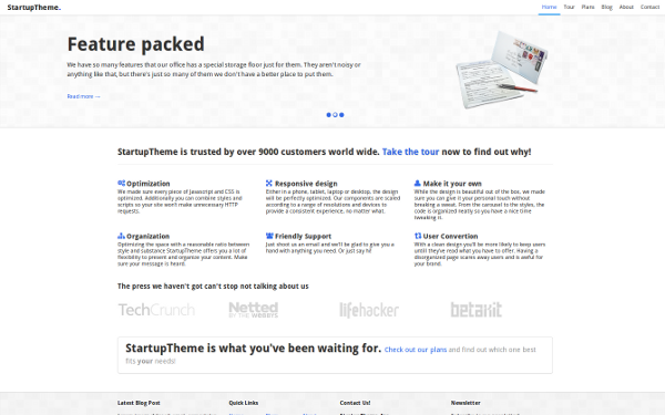 Responsive StartupTheme Free Download