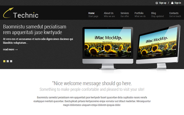 Technic – Business Theme Free Download