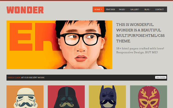 WONDER – Multipurpose Theme Free Download