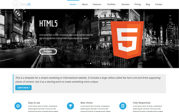 Smart Responsive Business Template Free Download