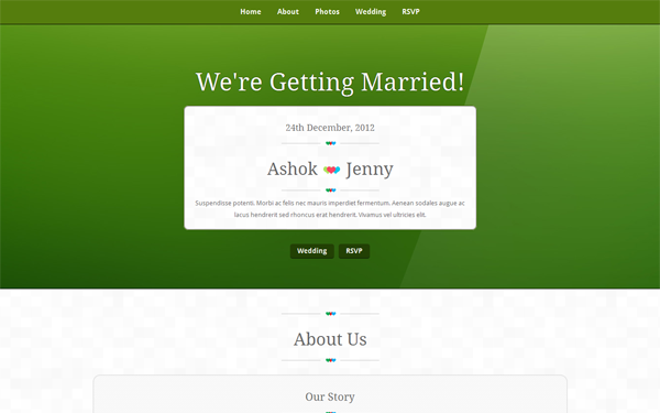 Responsive Bootstrap Wedding Theme Free Download