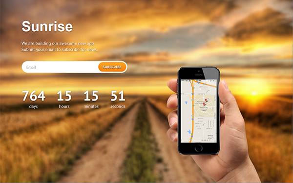 Sunrise – Coming Soon Page Free Download