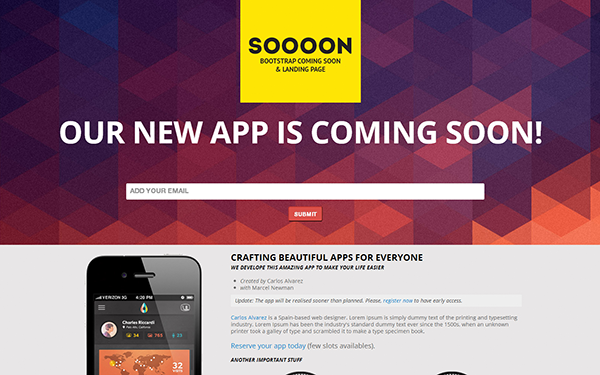 Soooon – Coming Soon & Landing Page Free Download