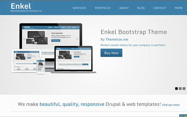 Simple Bootstrap Template | Enkel Responsive Bootstrap Theme Selling For 6 00