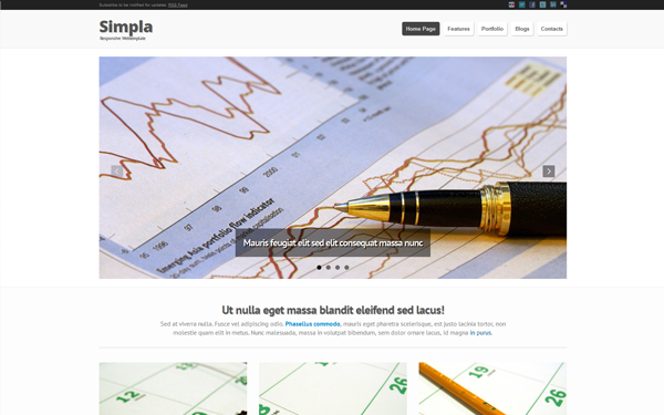 Simpla – Responsive Bootstrap Theme Free Download