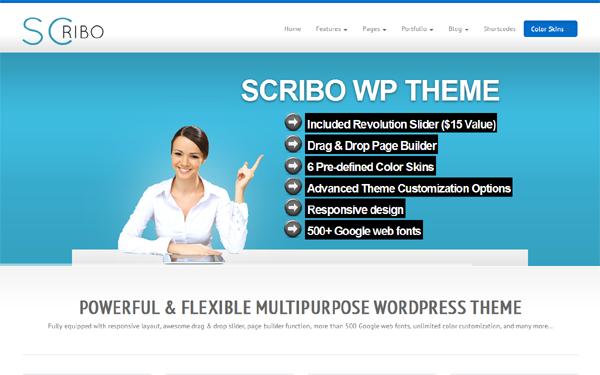 Scribo – Responsive WordPress Theme Free Download