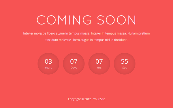 Rosley – Responsive Coming Soon Theme Free Download