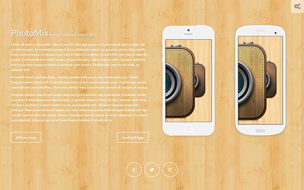 Wooden – Creative Landing Page Free Download