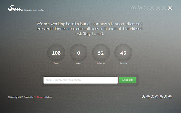 Sea – WordPress Coming Soon Page Free Download