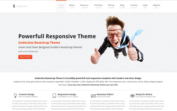 Undecimo Bootstrap Theme Free Download