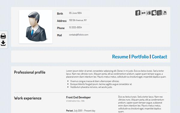 KO CV KO CV Templates  Bootstrap Resume Template