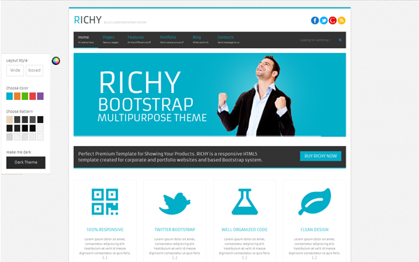Richy – Multipurpose Bootstrap Theme Free Download