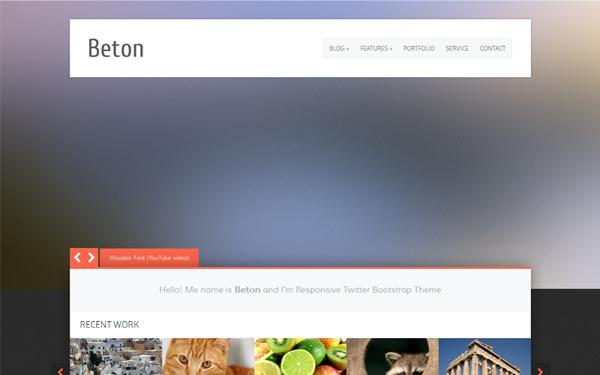 Beton - Responsive Wordpress Theme selling for $30.00