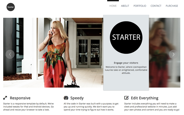 Starter Bootstrap Template Free Download