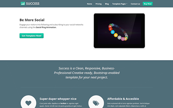 Success – Responsive Business Template Free Download