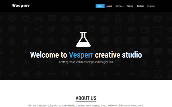 Vesperr – One Page Parallax Template Free Download