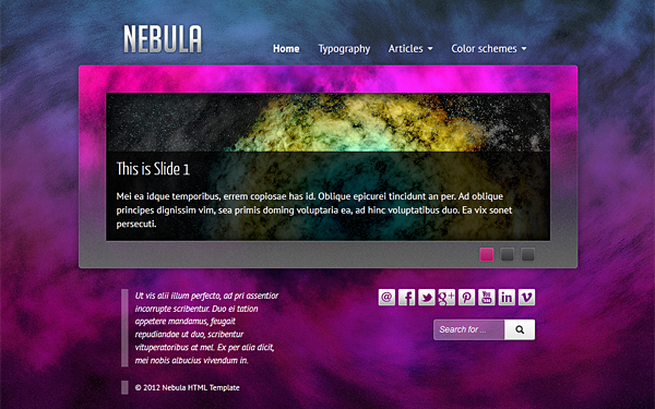 Nebula – Responsive Space Theme Free Download