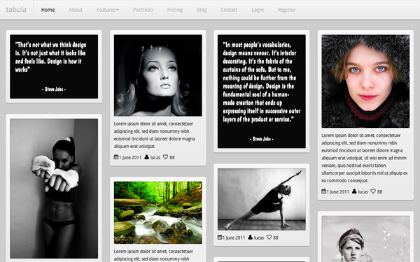 Tabula Portfolio Bootstrap Template Free Download