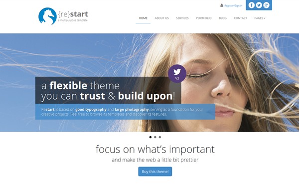 ReStart – Clean Minimal Business Free Download