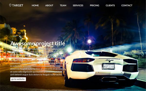 TARGET Bootstrap Theme Free Download