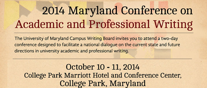 2014 Maryland Conference on Academic & Professional Writing
