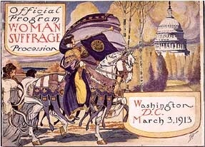Official program of Woman suffrage procession