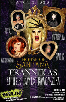 The House of Santana - lesbian, party, drag, music, dance - Chicago Gay Events, Lesbian Parties | Wsup now Chicago