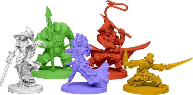 Heroes! - Image courtesy of Rum & Bones Kickstarter