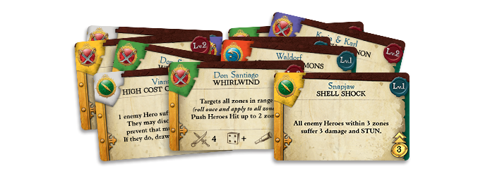 Skill Cards - Image courtesy of Rum & Bones Kickstarter