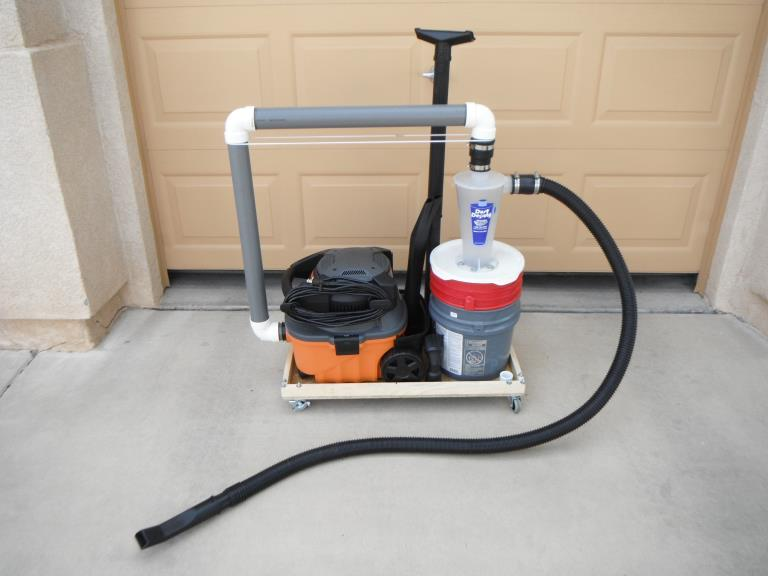 Shop vac hose 2 14 fitting creates a tight toolfree for Best vacuum for cement floors