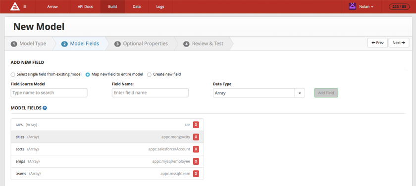 Appcelerator Arrow API Builder