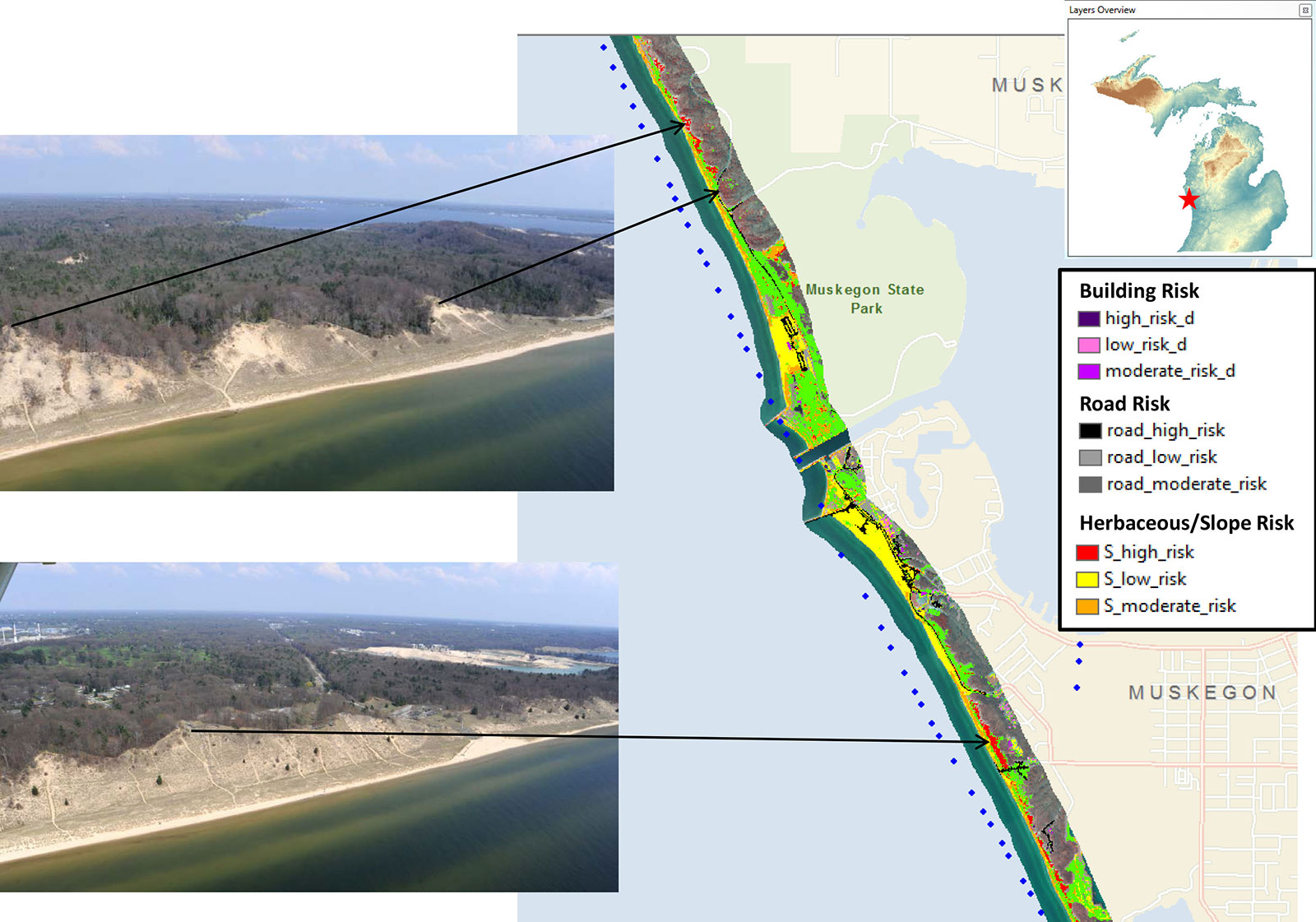 Michigan Coastal Mapping and Risk Assessment AES