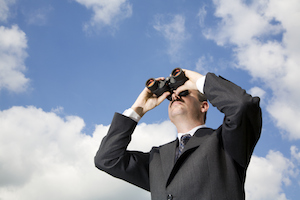cloud future predict outlook binoculars