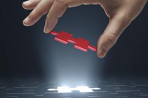 success puzzle piece future bright light spotlight fit perfect