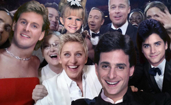 OMG!  This must have been so exciting for ELLEN and the cast of FULL HOUSE at the OSCARS!