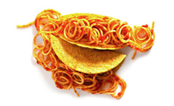 Spaghetti tacos