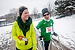 With the assistance of a walker, Pasik walks with MSU student Mariah Massa during a 5k fundraising event. Despite trailing behind other runners, he tries to participate whenever he can to train himself for long-distance races.