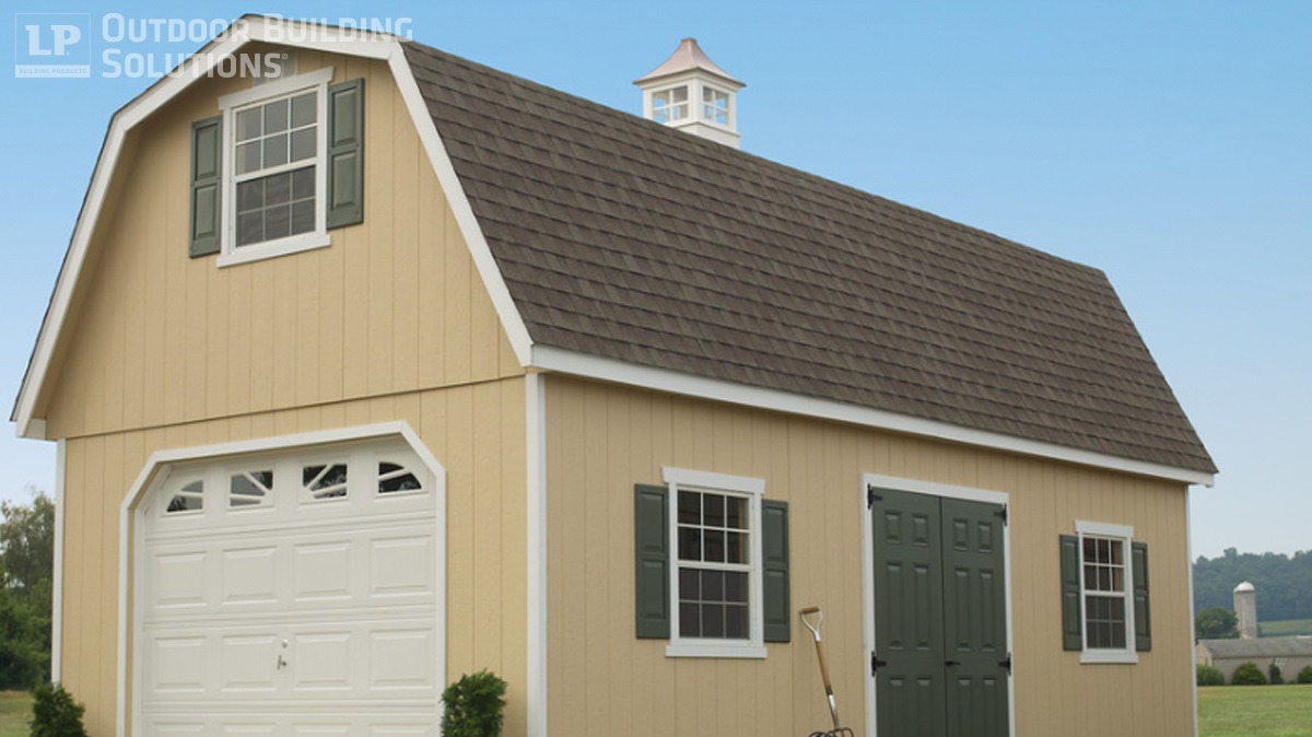 Choosing the right shed shape for you lp shed for Barn shaped garage